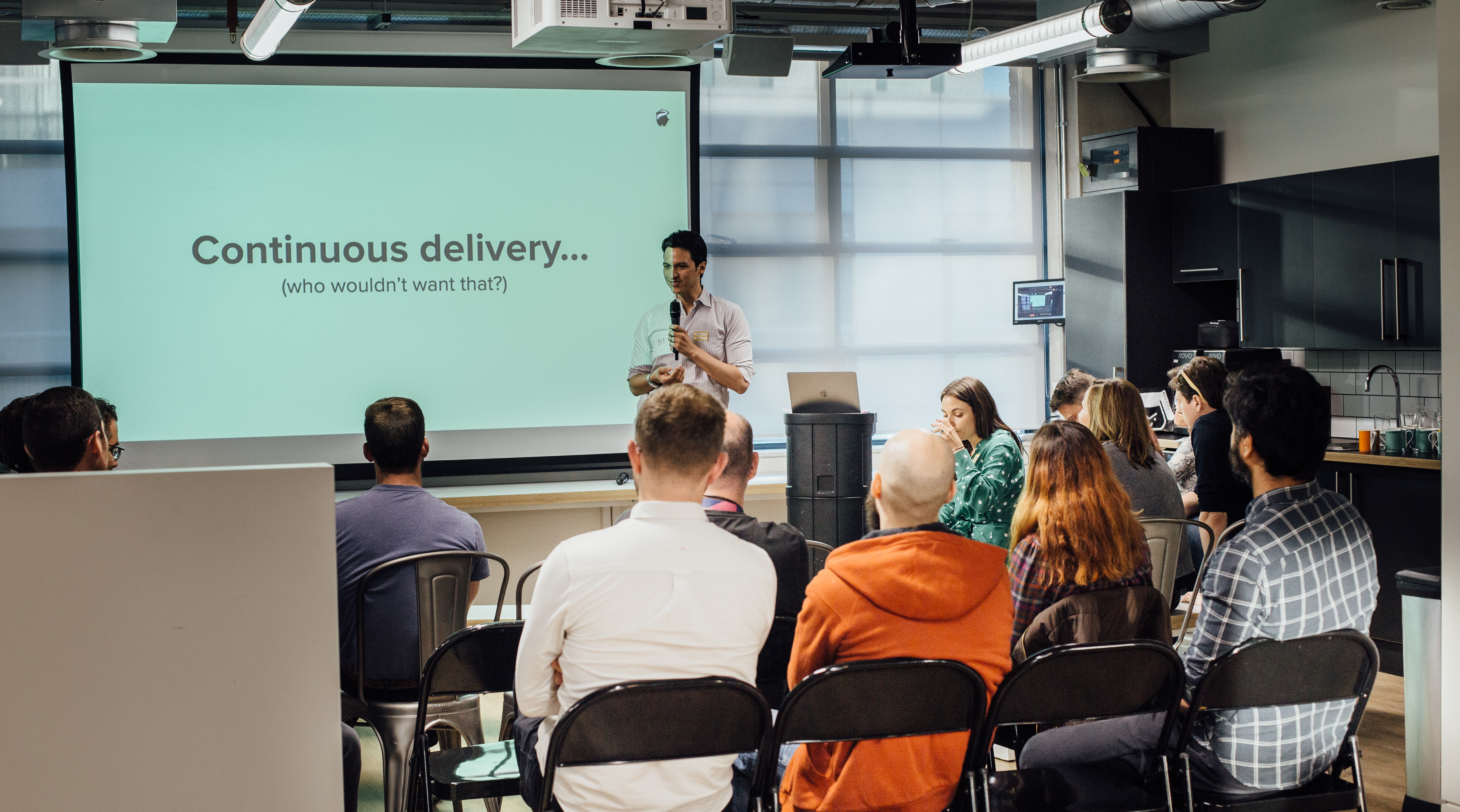 Shot of our Continuous Delivery event