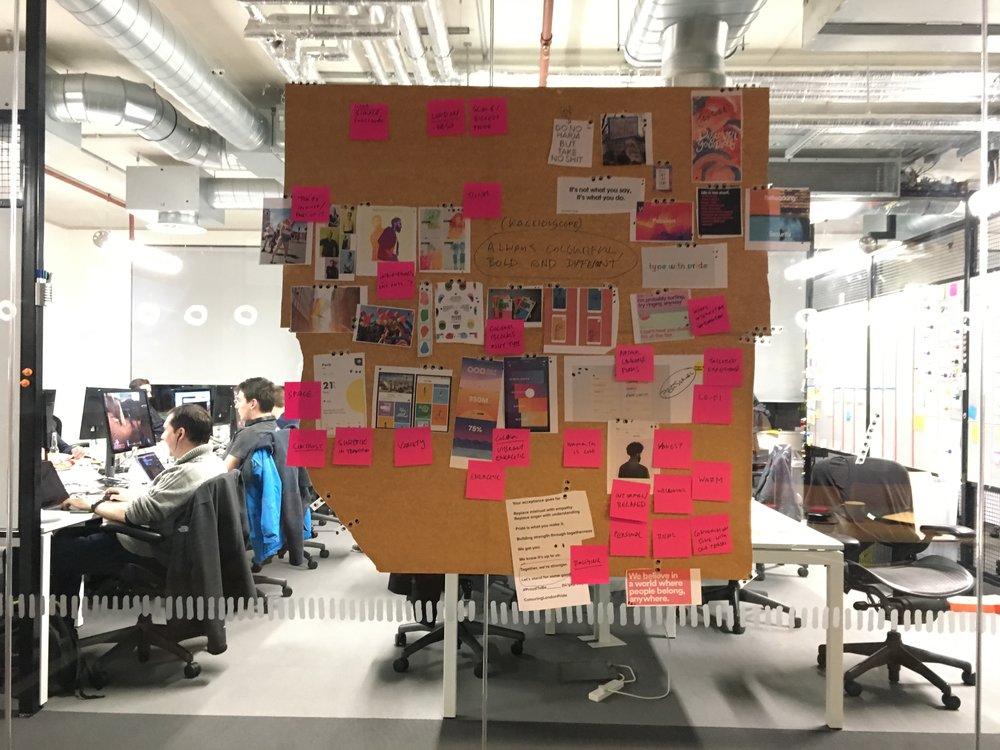 Brand workshop mood board