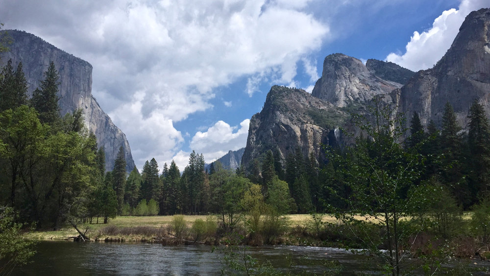 View looking back at Yosemite
