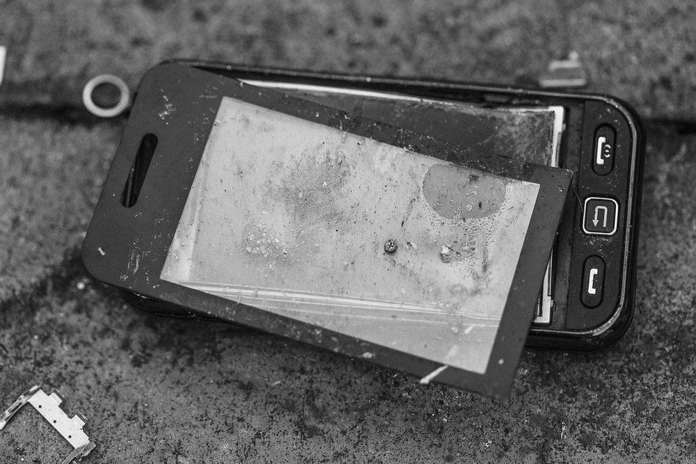 Picture of a broken phone