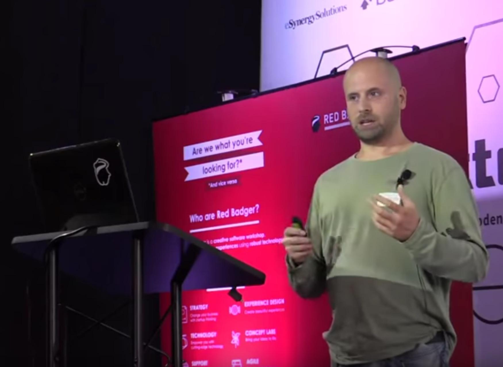 A photo of Graham Mendick presenting