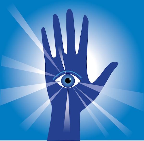Hand with eye