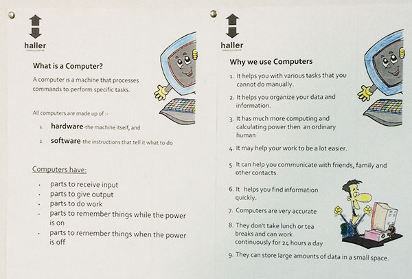 how to use computers poster