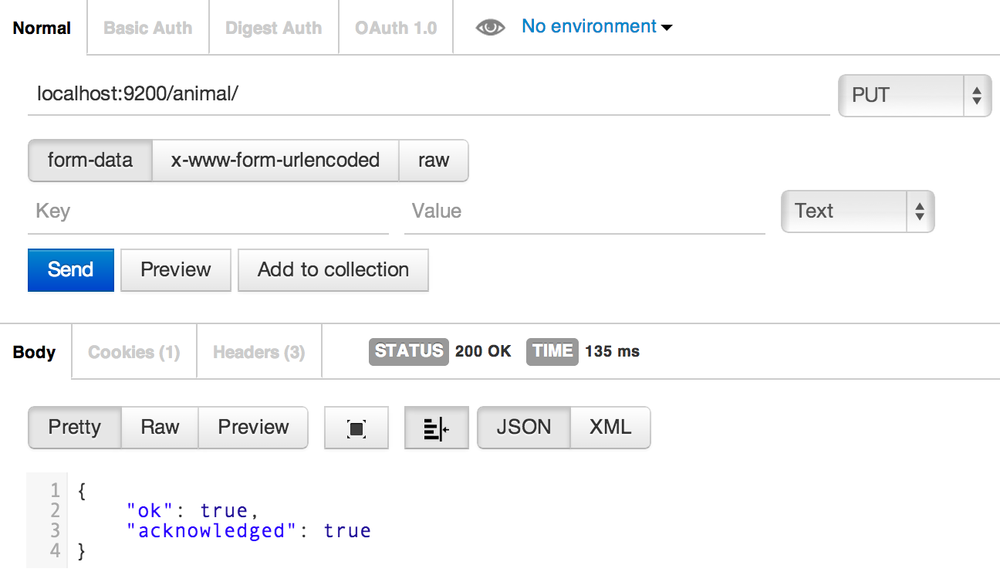 Creating an index in Elasticsearch