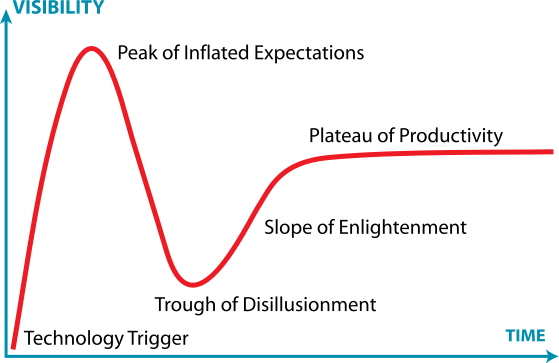 The Gartner Technology Hype Curve