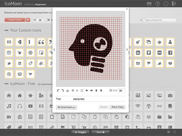 IcoMoon screenshot