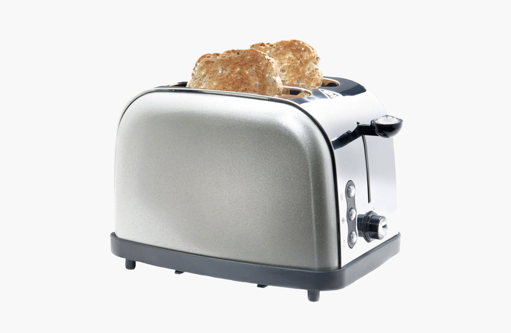 Toaster with toast ready to eat