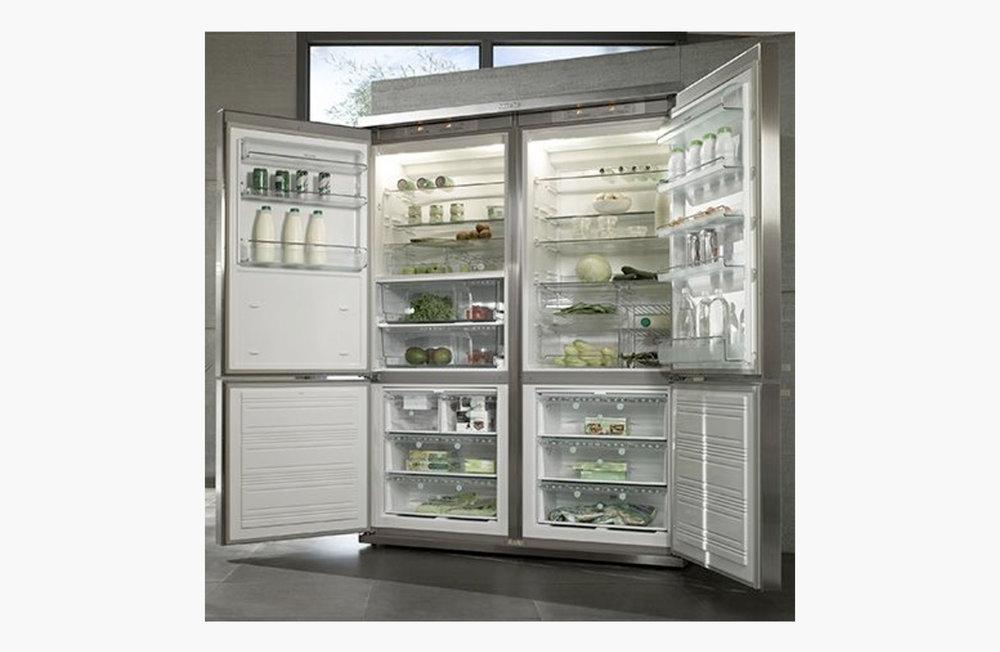Giant silver fridge