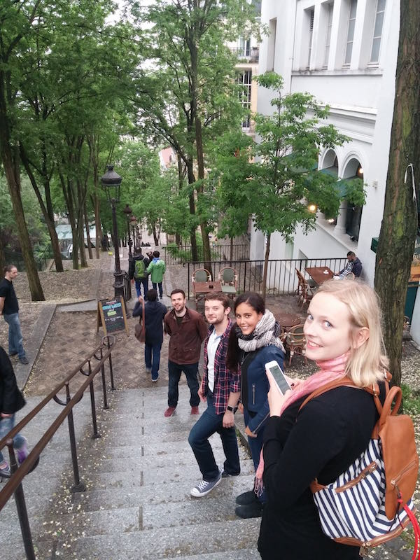 Red Badger team exploring Montmartre