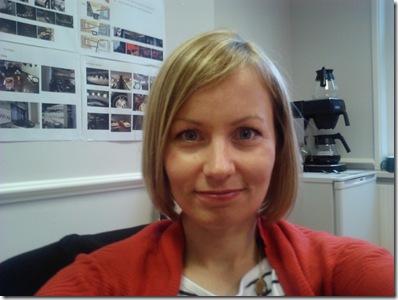 Rachel in the office
