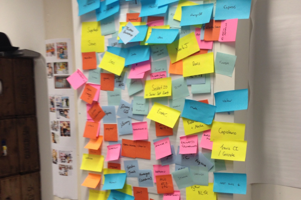 Too many Post-it notes...