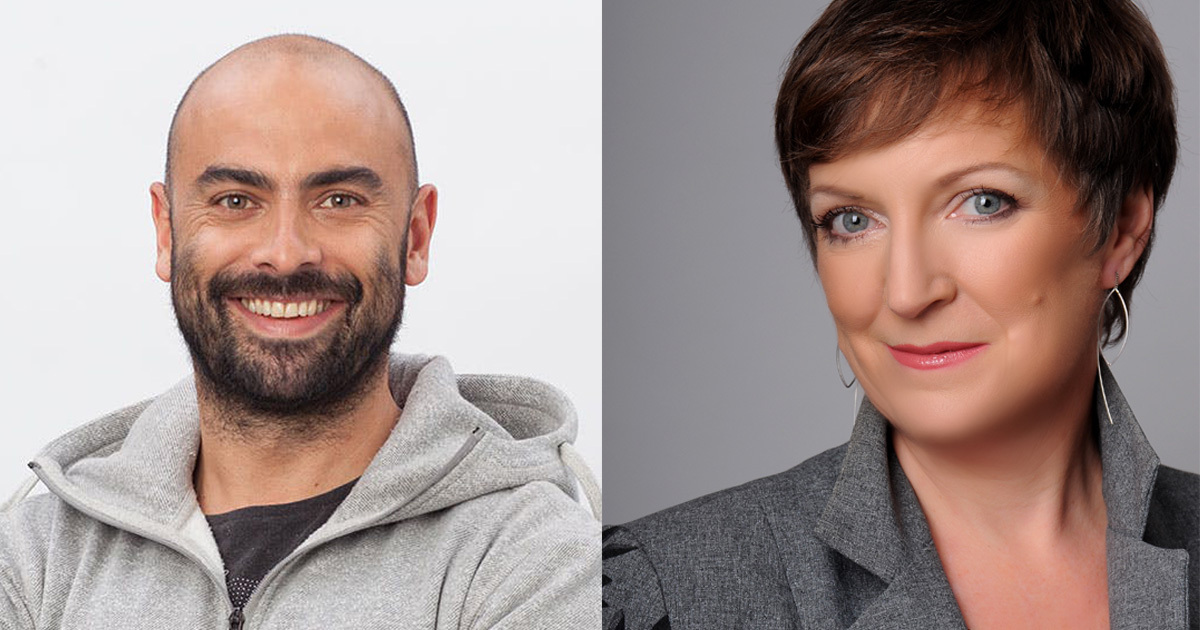 Cain Ullah, CEO of Red Badger and Avivah Wittenberg-Cox, CEO of 20-first